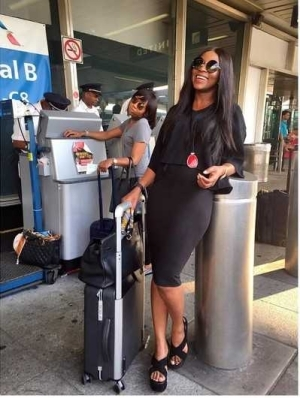 Pic: Genevieve Nnaji Looks Stunning As She Arrives Canada For Toronto International Film Festival